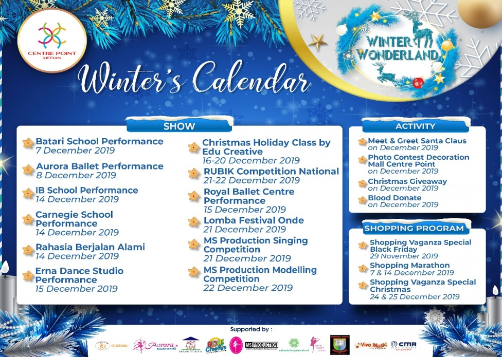 list of winters show 2019